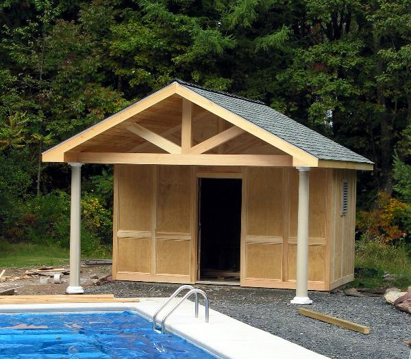 Construction for Shed into pool house